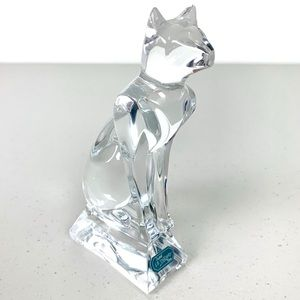 J.G. Durand Cristal d'Arques Accents - J.G. Durand Cristal d'Arques Crystal Cat Figurine